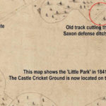 04 - 1841 Arundel Tithe map showing the area of the Little Park before it was landscaped to build the Cricket Ground