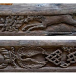 06 - Two of the beautifully carved beams reused in the ceiling of the Mary Gate on the upper floor