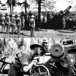 07 - One of the 9.2 inch guns of the 56th Heavy Regiment near Arundel Cricket Ground early in WW II