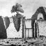 Sketch of the Dominican Friary by unknown artist - c1743