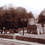 The newly rebuilt Bridge, with the Dominican Friary in the background. - c1936