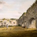 Standing in the courtyard of the ruined priory in London Road, now a theatre and residential home. - 1780