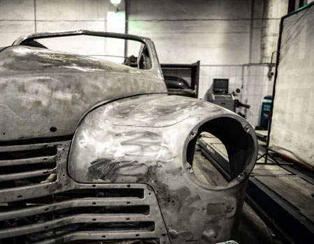 Old car being mended
