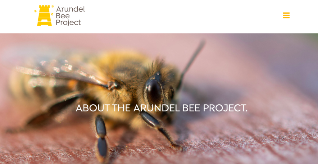 Arundel-Bee-Project-website-homepage