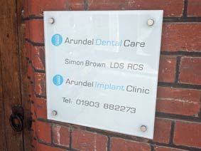Arundel dentist's sign