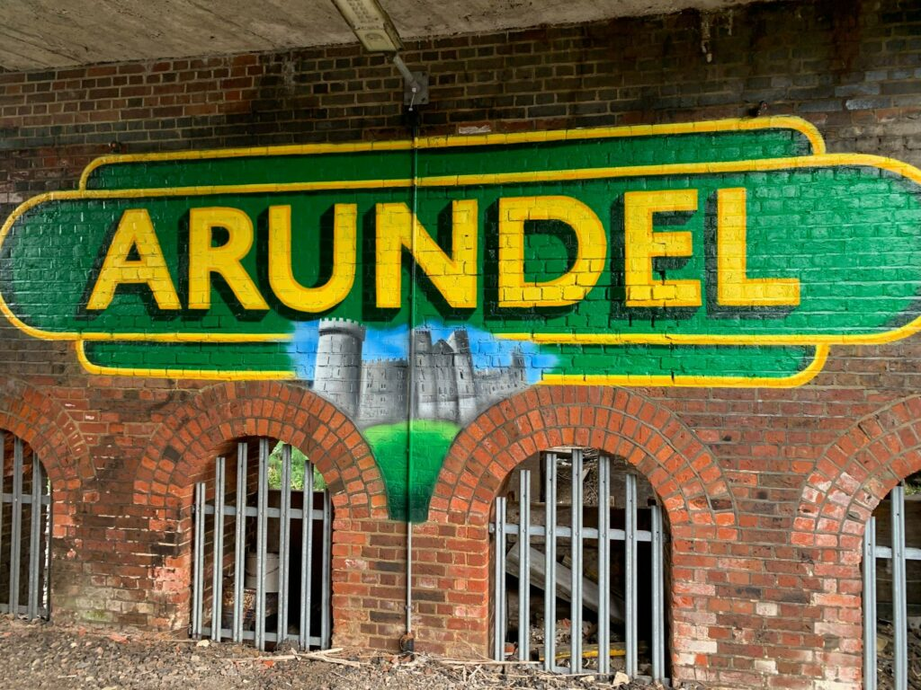 Mural on Arundel station underpass