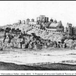 Arundel castle and Town by Wenceslaus Hollar c1644